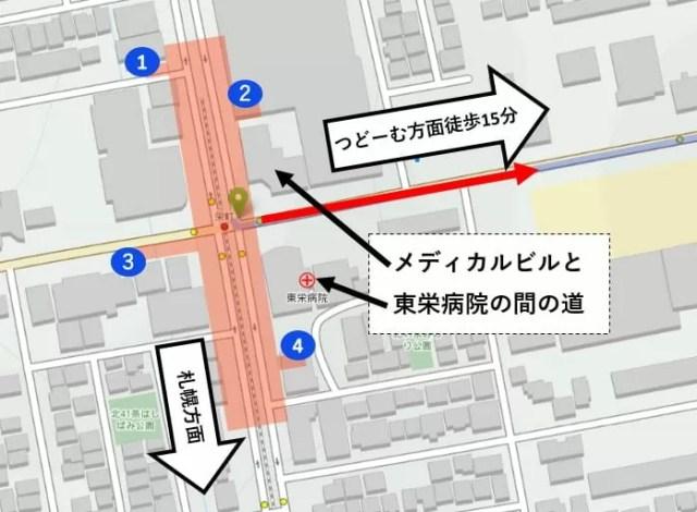 地下鉄東豊線 栄町マップ
