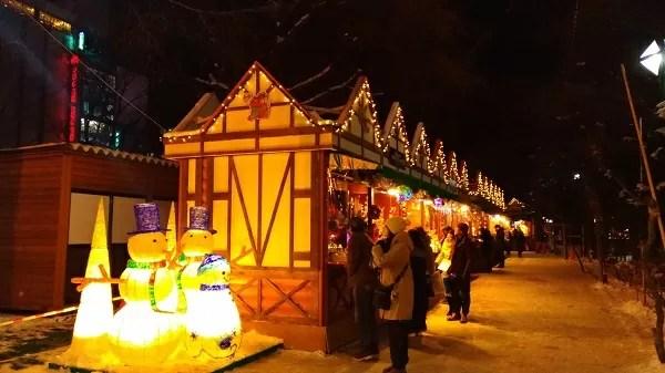 大通2丁目会場 ミュンヘン・クリスマス市 in Sapporo会場