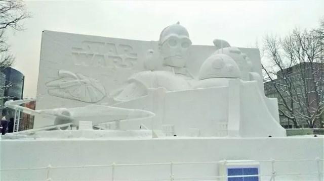 【2019年10丁目】UHBファミリーランド 大雪像!『スター・ウォーズ/エピソード9(仮題)』公開記念!白いスター・ウォーズ