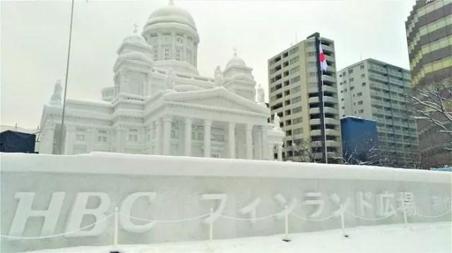 【2019年7丁目】HBCフィンランド広場 今期最大級の大雪像!ヘルシンキ大聖堂