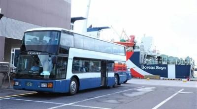 礼文島の定期観光バス