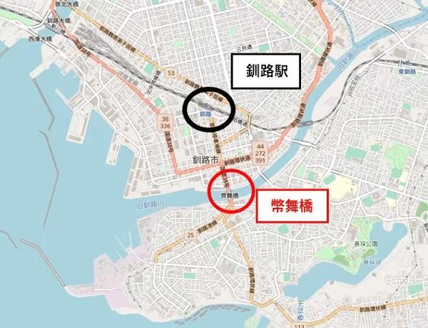 幣舞橋の地図
