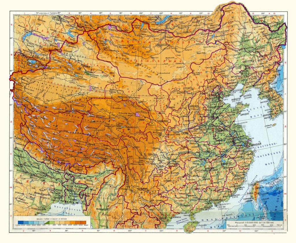 Joet Kiinassa Kartta Kartta Kiinan Joet Ita Aasia Aasia