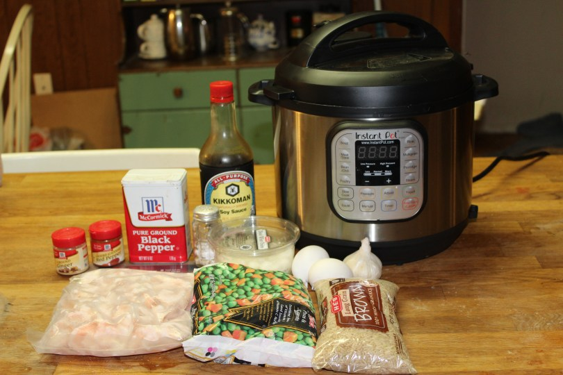 ingredients for shrimp fried rice