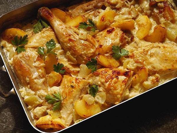 طريقة عمل صينية دجاج بالبطاطس بالفرن وصفات طبخ وصفات دجاج