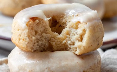 Banana Baked Donuts with a brown butter glaze