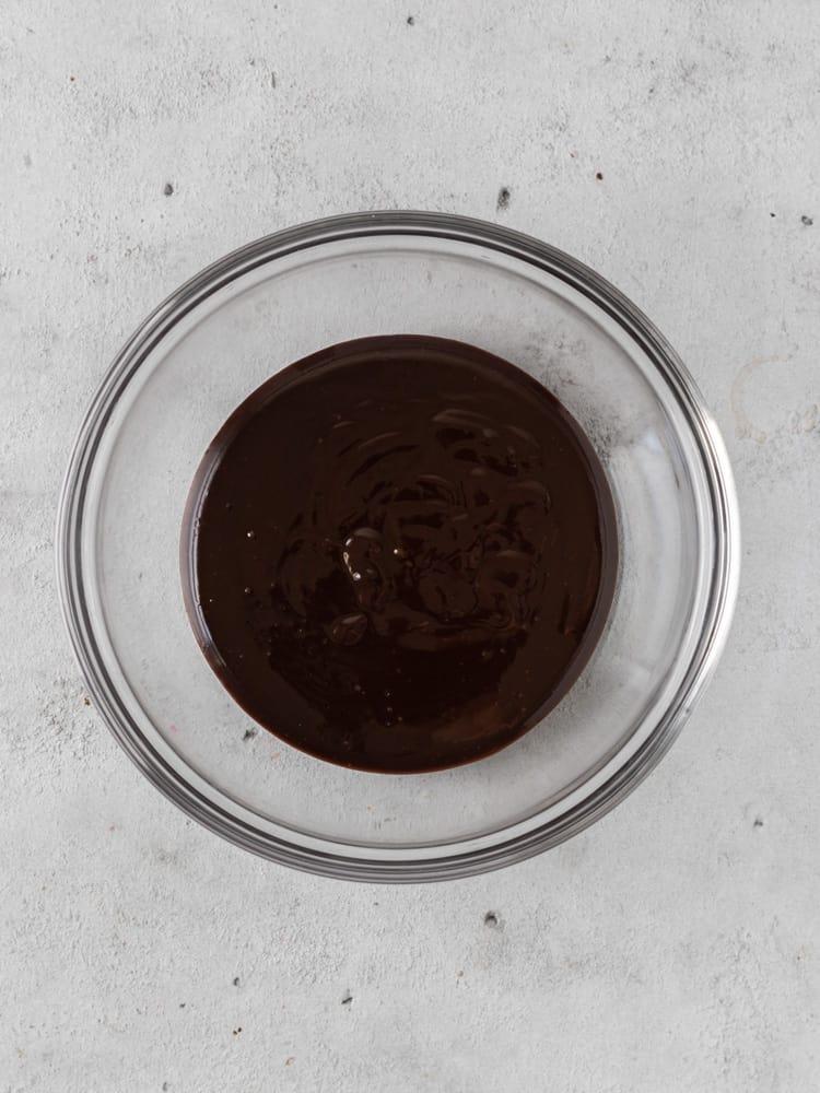 a bowl of chocolate ganache