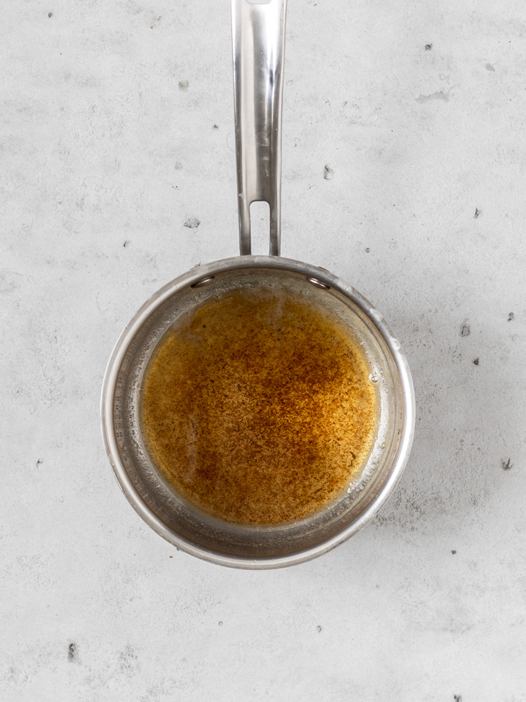 A pan of brown butter