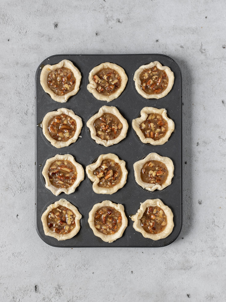 The mini pies before being baked