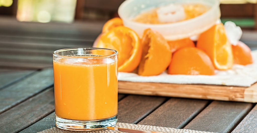 orangensaft frisch gepresst