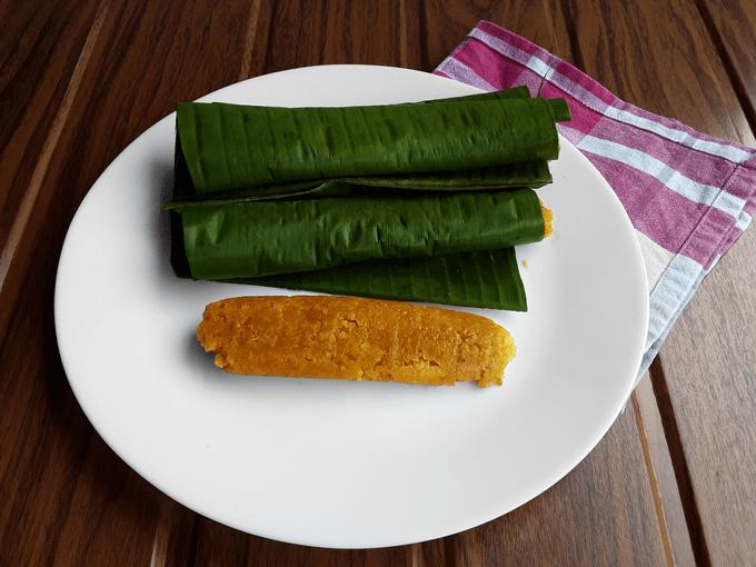 Dudiya Kadambe - A sweet, traditional steamed Konkani pumpkin snack - A teatime delight