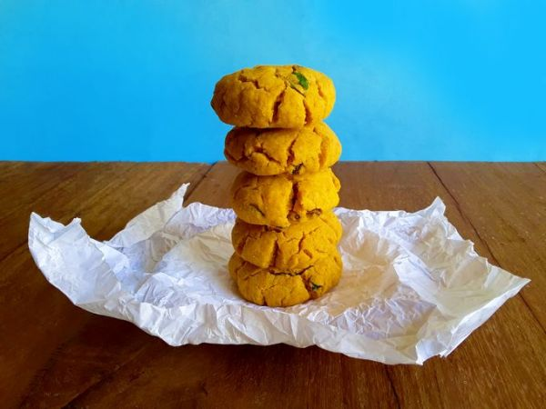 Hot and spicy, sweet and savory, dairy free, vegan cookies.
