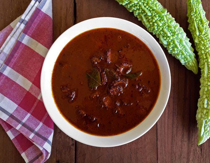 Karathya Nonche - Bitter gourd pickle (Vegan + Gluten Free)