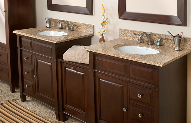 Custom Bathroom Double Vanities Northern VA