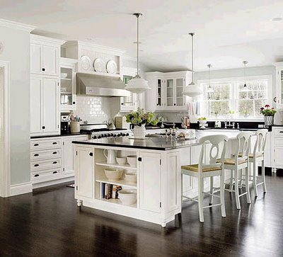 Bright White Kitchen Cabinets Accented By A Spash Of Color In This Ashburn Va