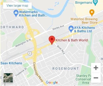 Directions to Kitchen Bath World In Kitchener