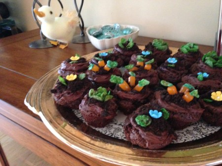 Brownie Garden for Spring or Easter