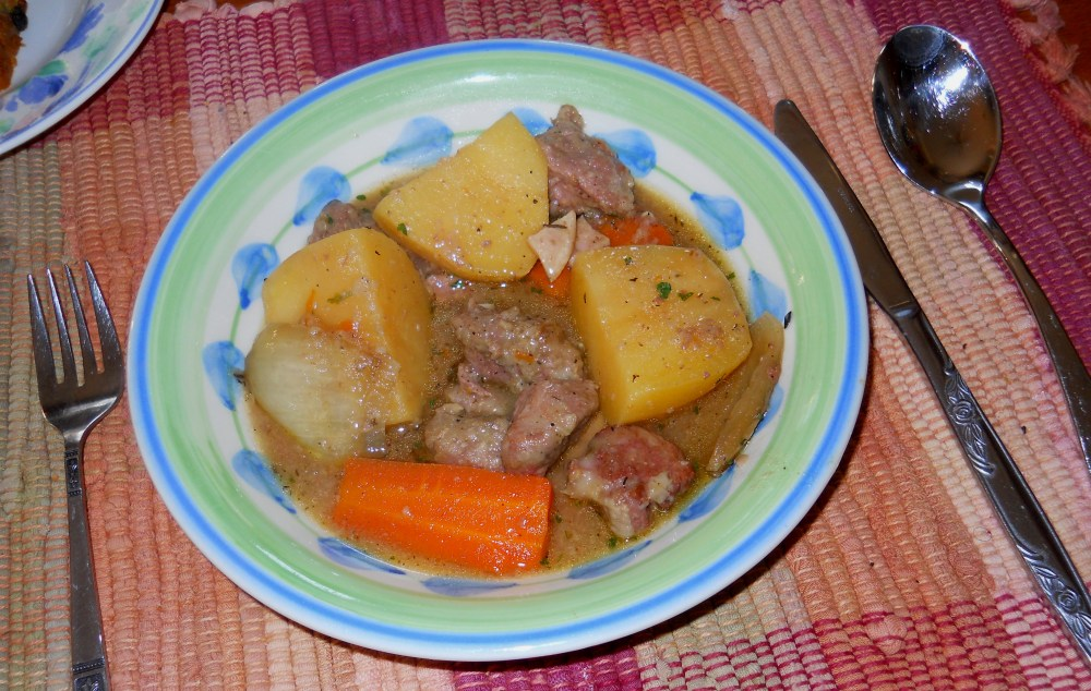 ALMOST-IRISH STEW for the Slow-Cooker, with SHAMROCK IRISH SODA BREAD (6/6)