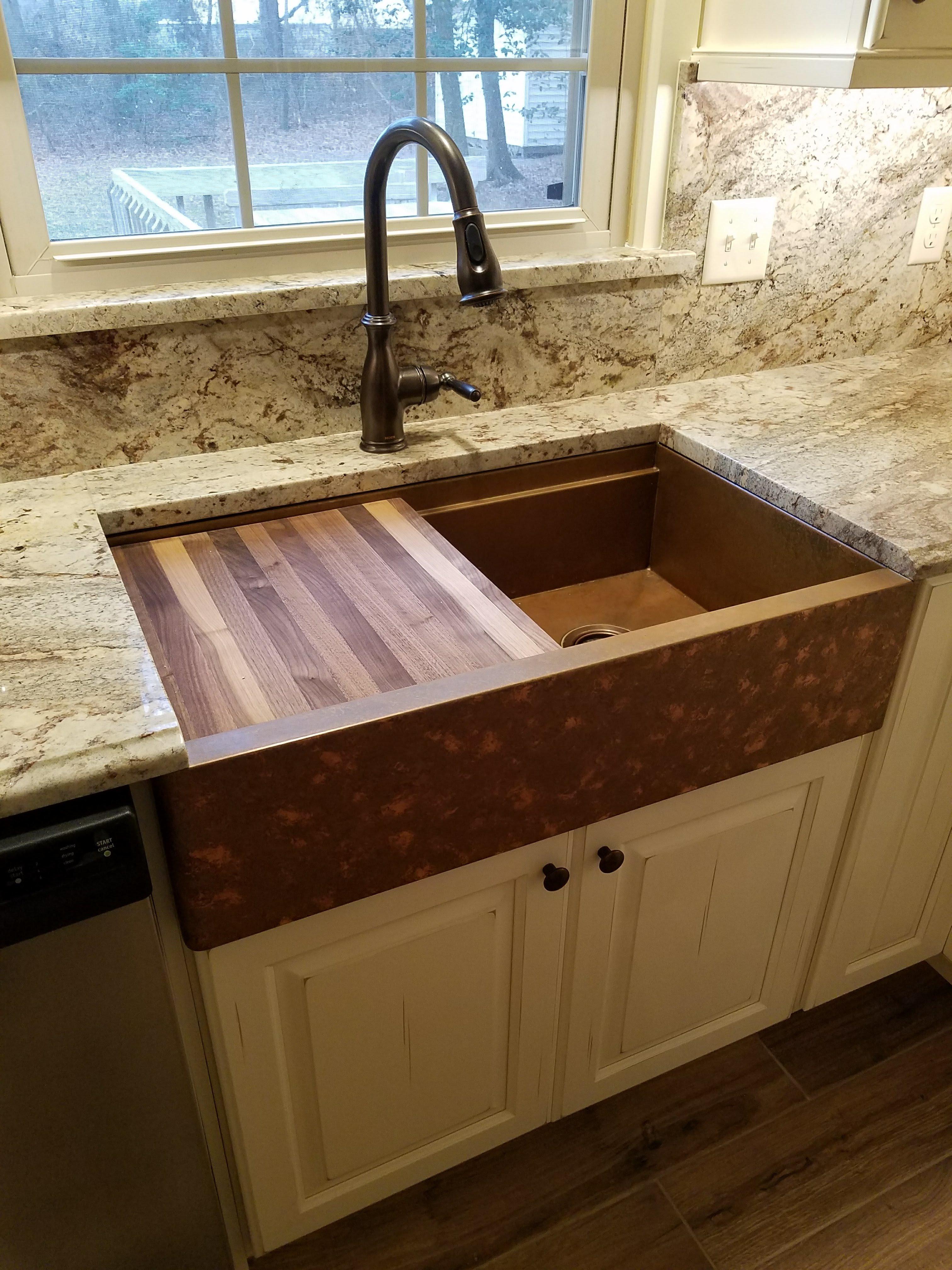 copper sink kitchen kitchen