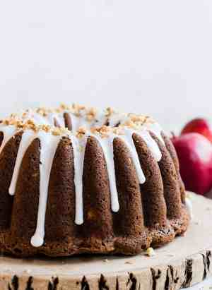 """Apple Walnut Delight Cake. Why is this cake a """"delight?"""" One taste of my mother's recipe for this moist cake studded with sweet apples will tell you why."""