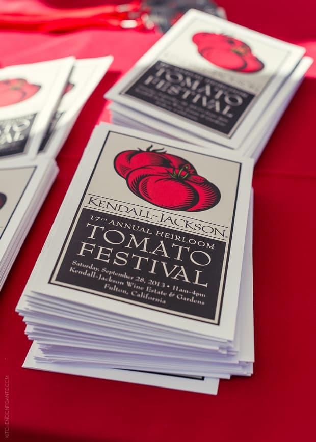 2013 Kendall-Jackson Heirloom Tomato Festival | www.kitchenconfidante.com | Brochures