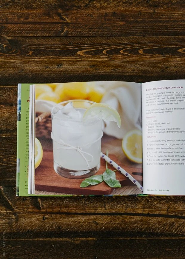 A page from inside the Delicious Probiotic Drinks cookbook