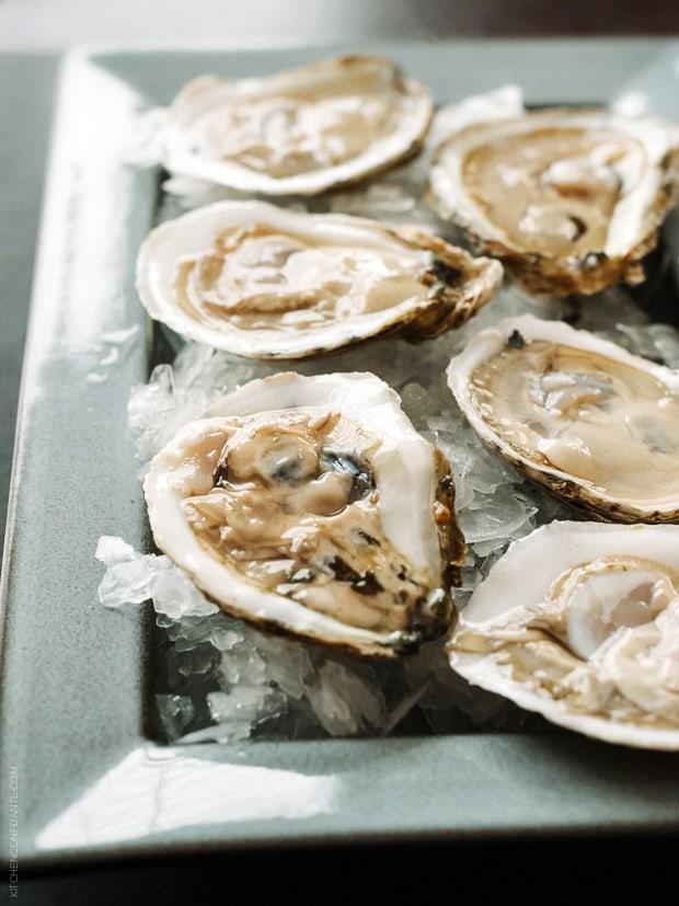 Buttermilk Fried Oysters with Caper Aioli | www.kitchenconfidante.com
