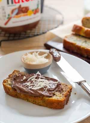 Coconut Banana Bread with Nutella | www.kitchenconfidante.com