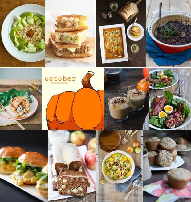 #EatSeasonal October 2014   www.kitchenconfidante.com