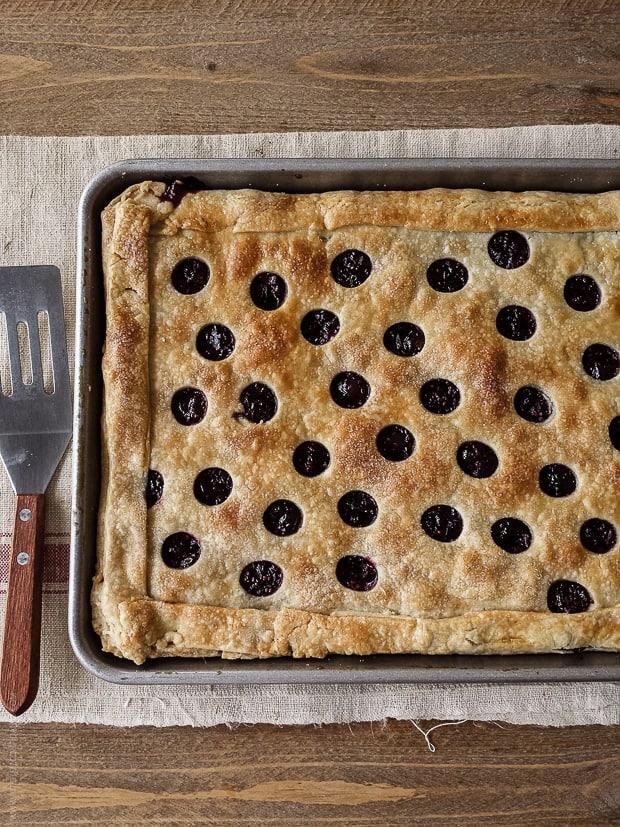 Cranberry Sauce Slab Pie | www.kitchenconfidante.com