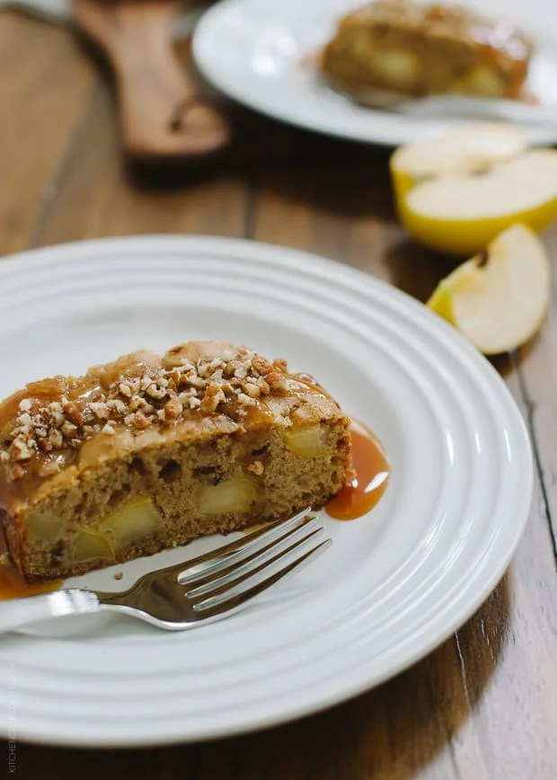 Apple Pecan Loaf Cake | www.kitchenconfidante.com | A simple cake, perfect for breakfast, snack or dessert!