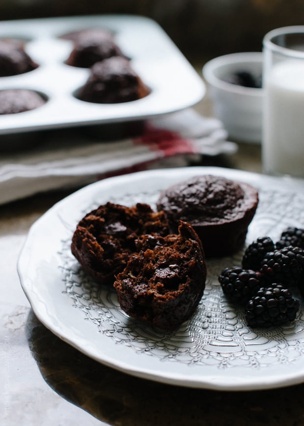 Chocolate Banana Quinoa Muffins   www.kitchenconfidante.com   Whether for breakfast or snack, these gluten free muffins are protein and antioxidant rich!