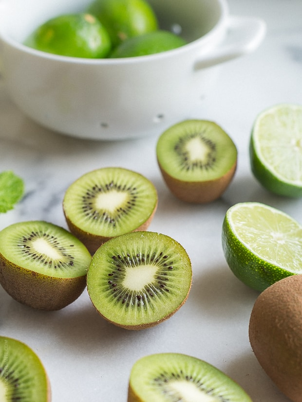 Kiwi Lime Mojitos | www.kitchenconfidante.com | Use fresh kiwis in a mojito!
