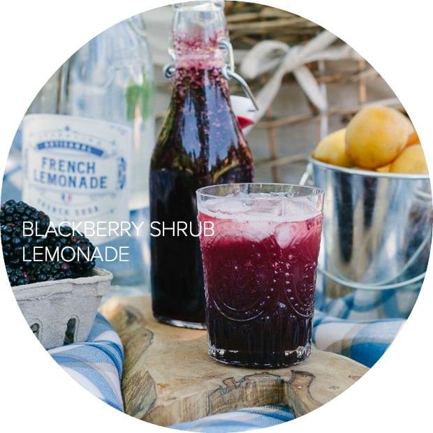 Blackberry Shrub Lemonade | www.kitchenconfidante.com