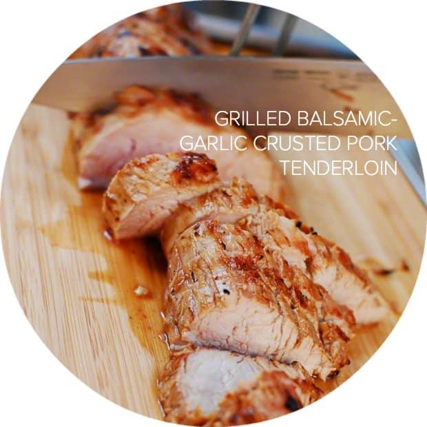 Grilled Balsamic Garlic Crusted Pork Tenderloins | www.kitchenconfidante