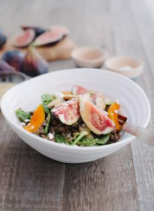 Fig and Apricot Summer Lentil Salad | www.kitchenconfidante.com | Relish fig and apricot season with this summer salad!