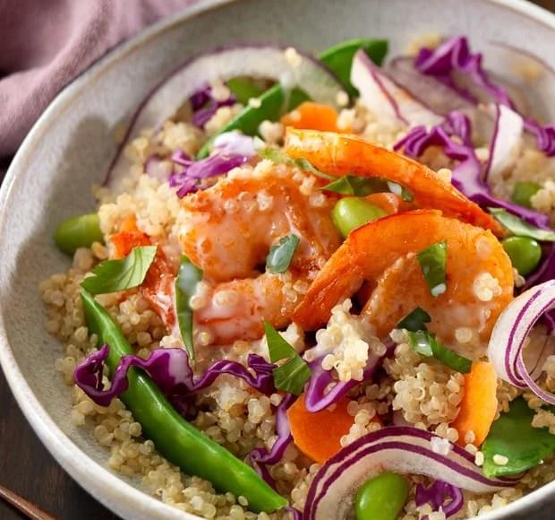 Thai Shrimp Quinoa Bowl   www.kitchenconfidante.com