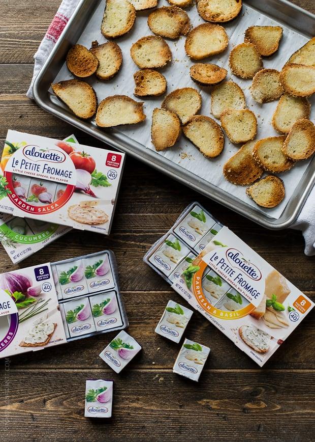 Garlic Parmesan Bagel Chips | www.kitchenconfidante.com | Transform leftover bagels into crispy bagel chips!