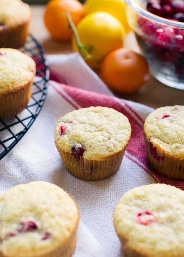 Meyer lemon and clementine add a touch of zing to Cranberry Citrus Muffins.
