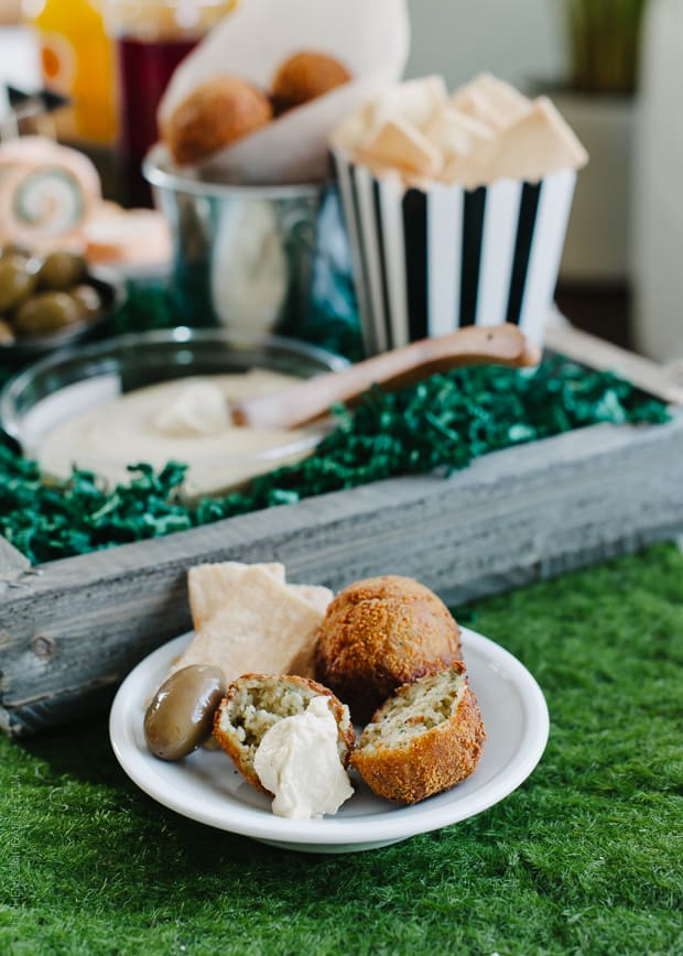 Roasted Eggplant Falafel Bites are a delicious addition to your game day spread!