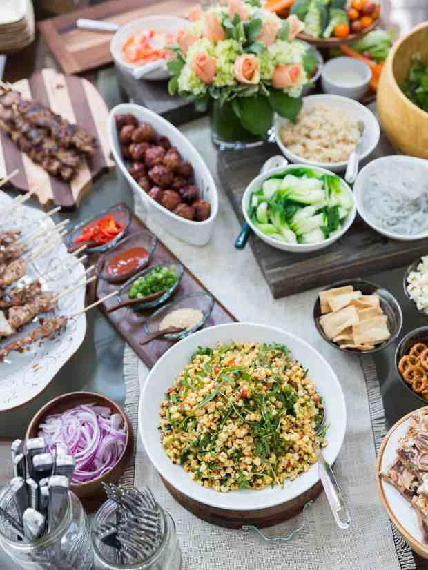 Give your next big game party a delicious twist with Big Game Bowl recipes like Spicy Korean-style Pork Meatball Bowls and Filipino Pork BBQ Bowls!