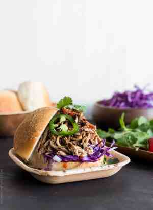 Put the slow cooker to work and make these delicious Filipino Adobo-style Pulled Pork Sandwiches!