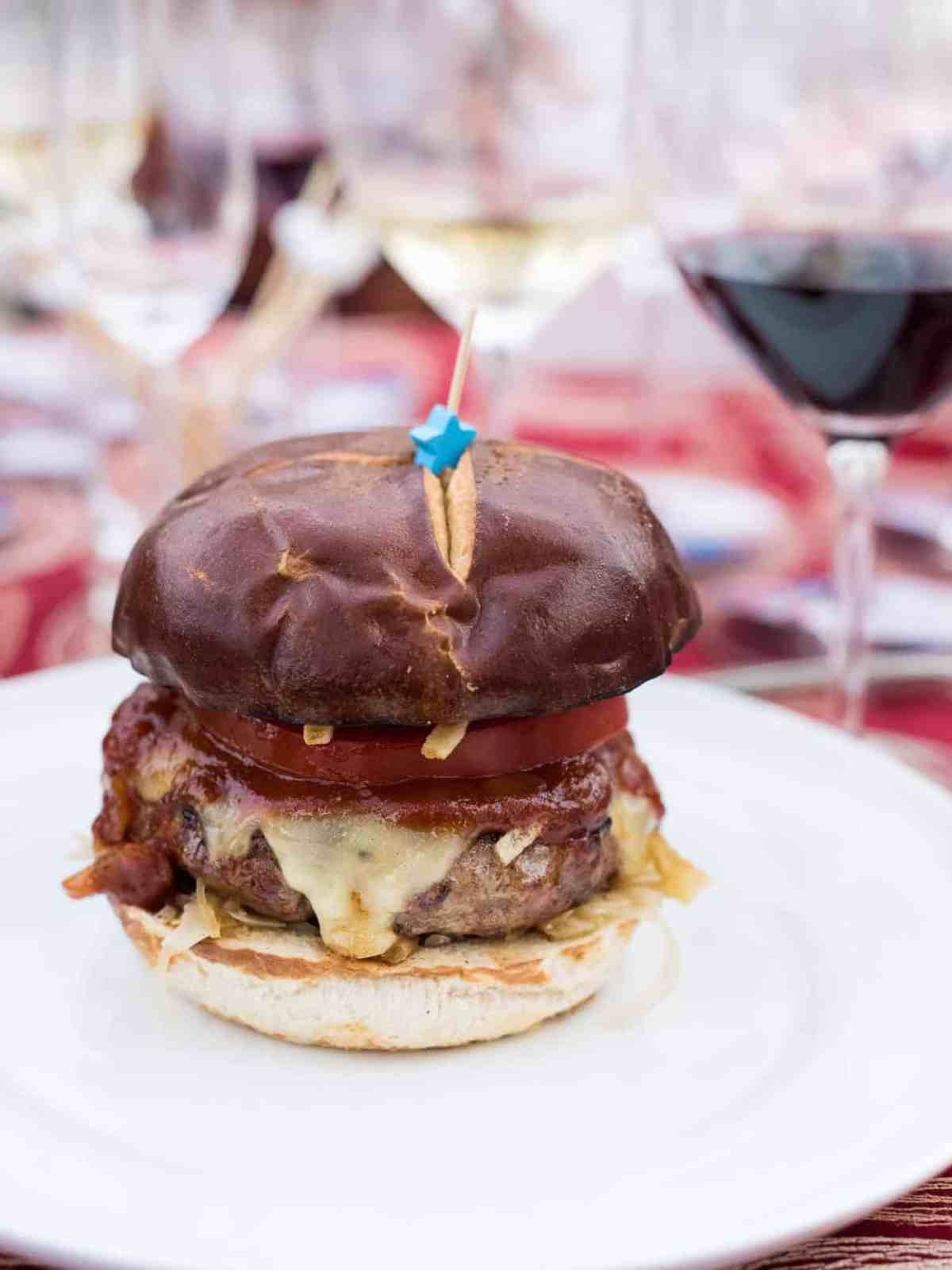 The Bratty Patty at the Sutter Home 25th Annual Build a Better Burger Cookoff.