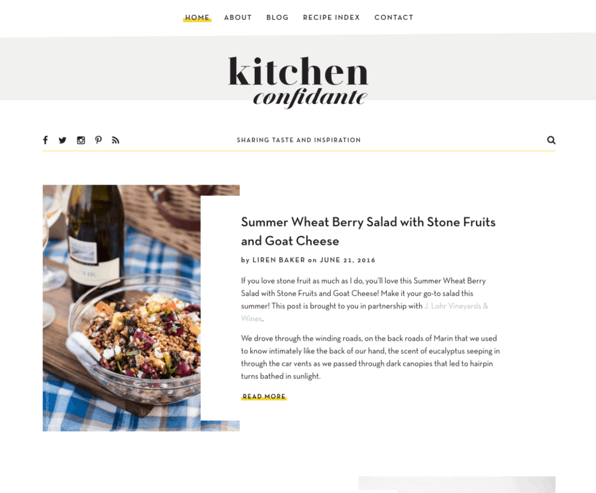 Redesigned Kitchen Confidante Website | www.kitchenconfidante.com