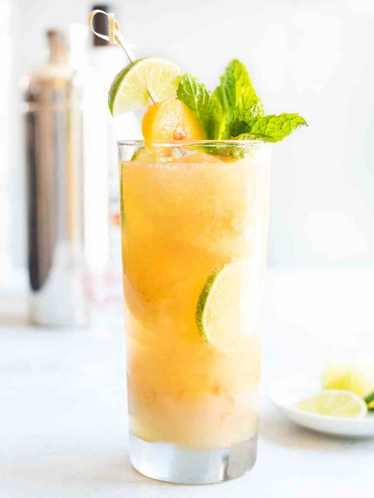 Peach Sorbet Mojito Float - sip your way to vacation mode!