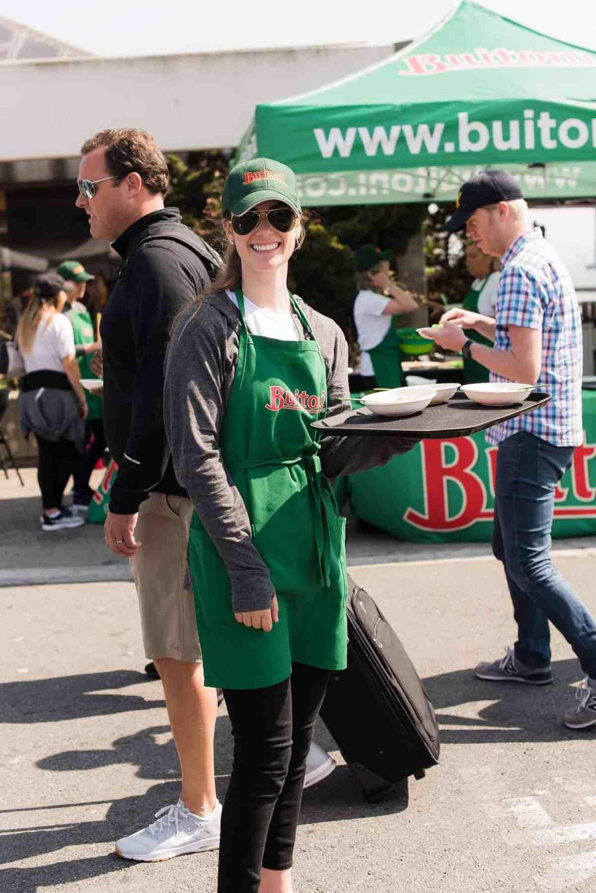 Sharing samples of BUITONI pasta at Ferry Building Farmer's Market.