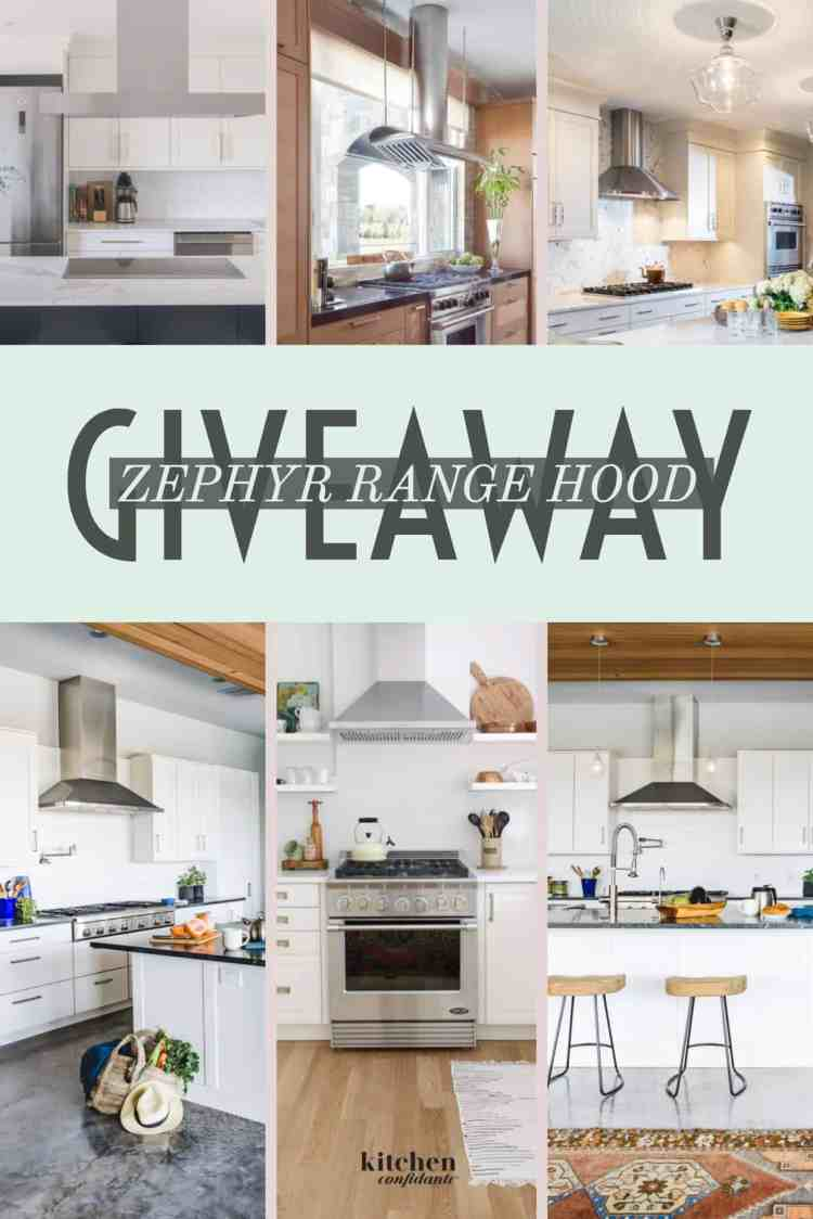 Giveaway for a Zephyr Range Hood on kitchenconfidante.com