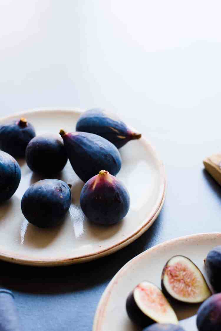 Fresh black mission figs for Honey-Balsamic Figs with Burrata.