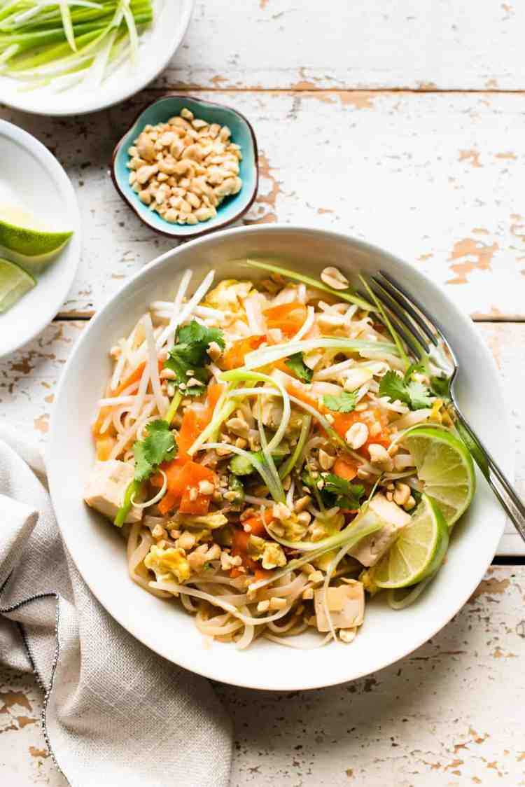 Vegetarian Pad Thai made in an Instant Pot