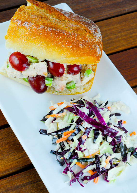 Food Literacy Month and A Waldorf Chicken Salad Sandwich Recipe
